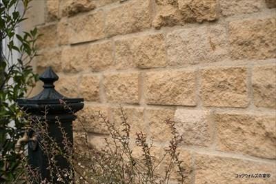 レンガ貼りの外壁